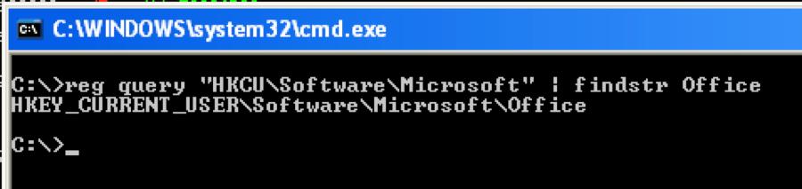 """図1 Microsoft OfficeのインストールでデフォルトではWindowsレジストリに""""Office Test""""キーが存在しない"""