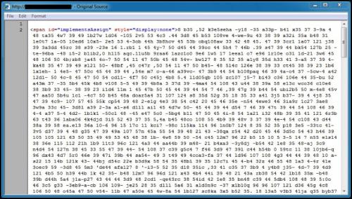 図4: 2016年5月に疑似Darkleech攻撃によって挿入されたコードの先頭部分