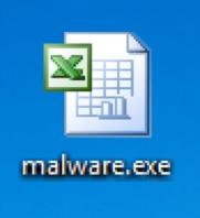 図1 Aveoマルウェアが使っているMicrosoft Excelのアイコン