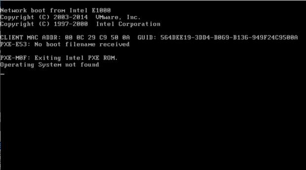 図6 オペレーティング システムを検出できなくなったシステム